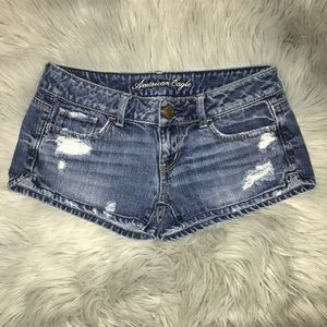 American Eagle Distressed Denim Shorts